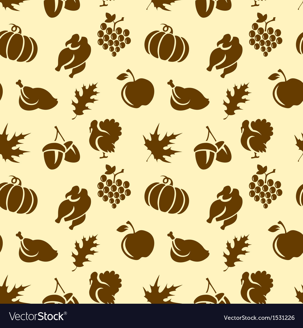Thanksgiving seamless pattern vector image