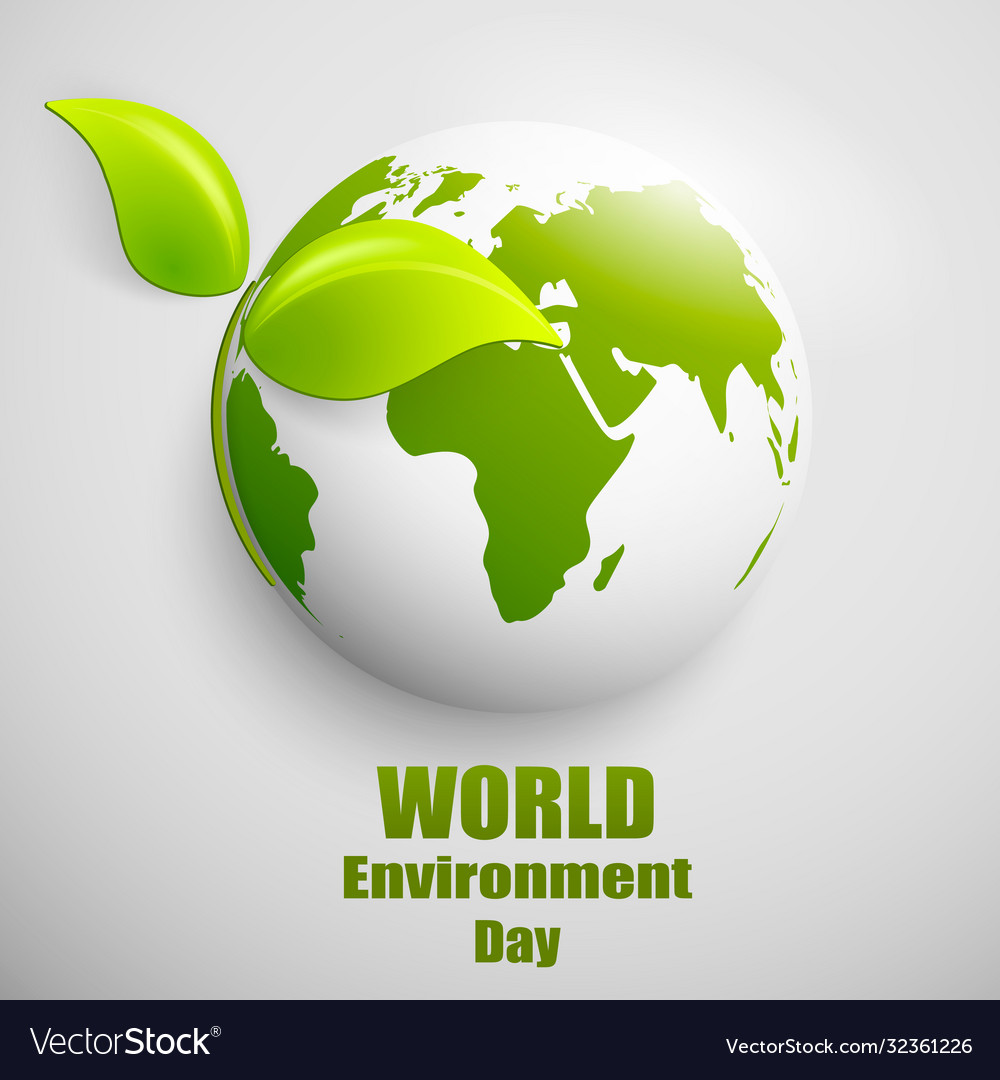 World environment day label or banner