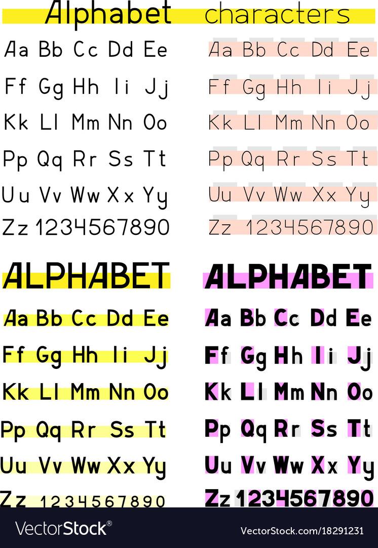 Alphabet white background
