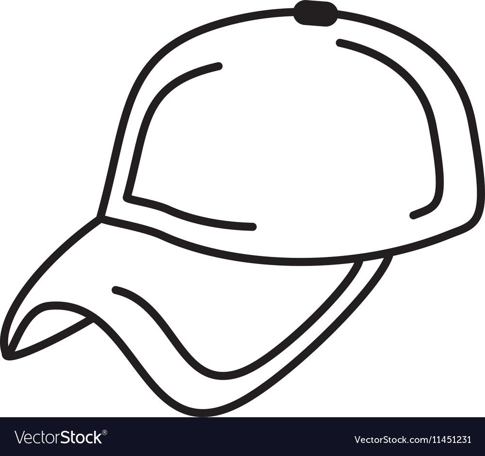 Baseball cap uniform isolated icon