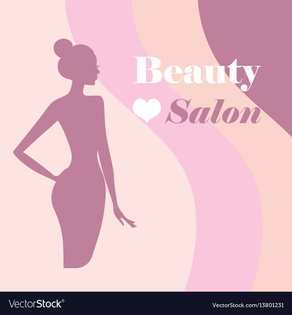 Beauty logo template background with beautiful vector image on vectorstock maxwellsz