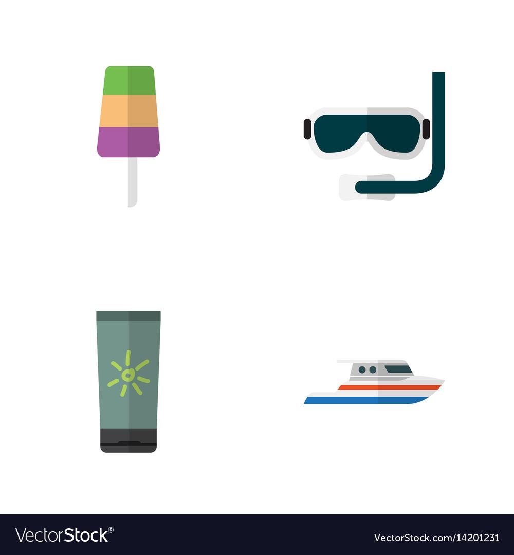 Flat hot set of sundae boat moisturizer and