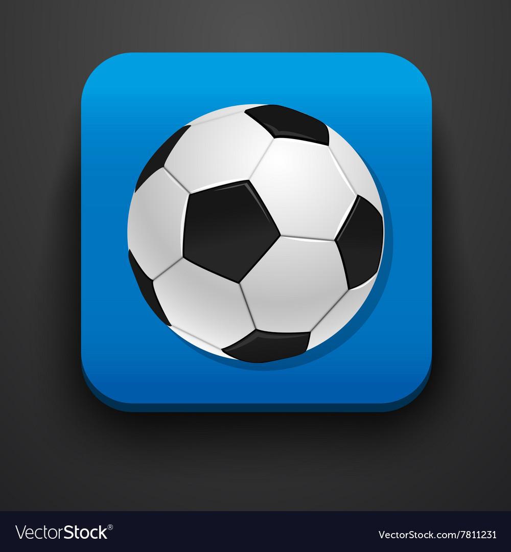 Football symbol icon on blue