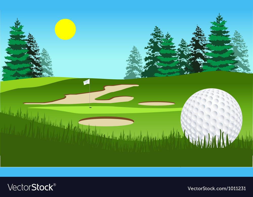 Golf fairway shot