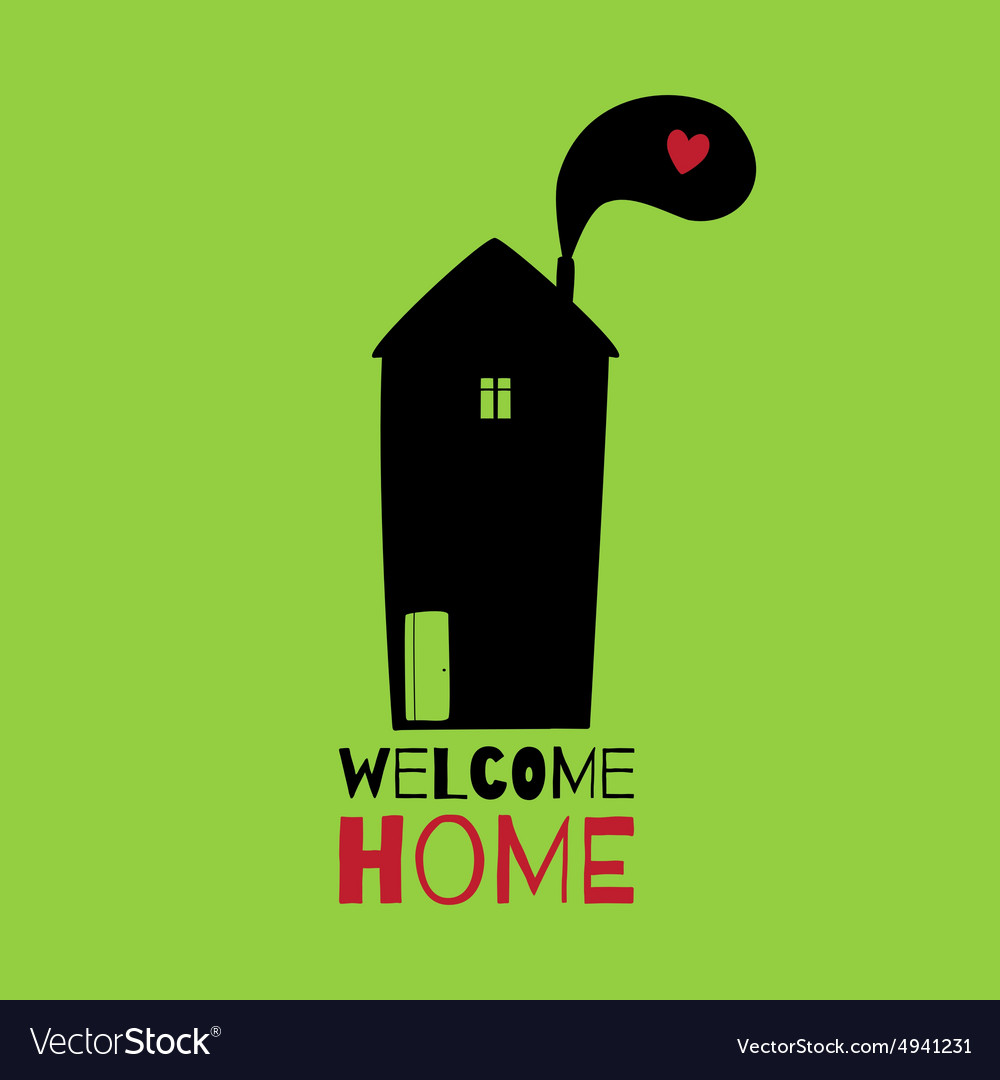Greeting card welcome home royalty free vector image greeting card welcome home vector image m4hsunfo