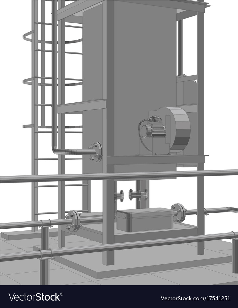 Petroleum gas heating furnace tracing