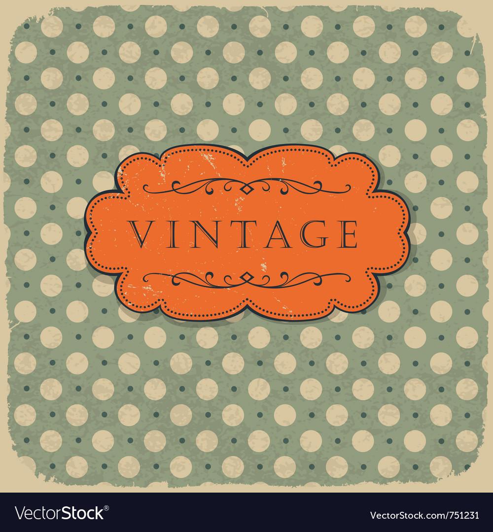 Polka vintage background