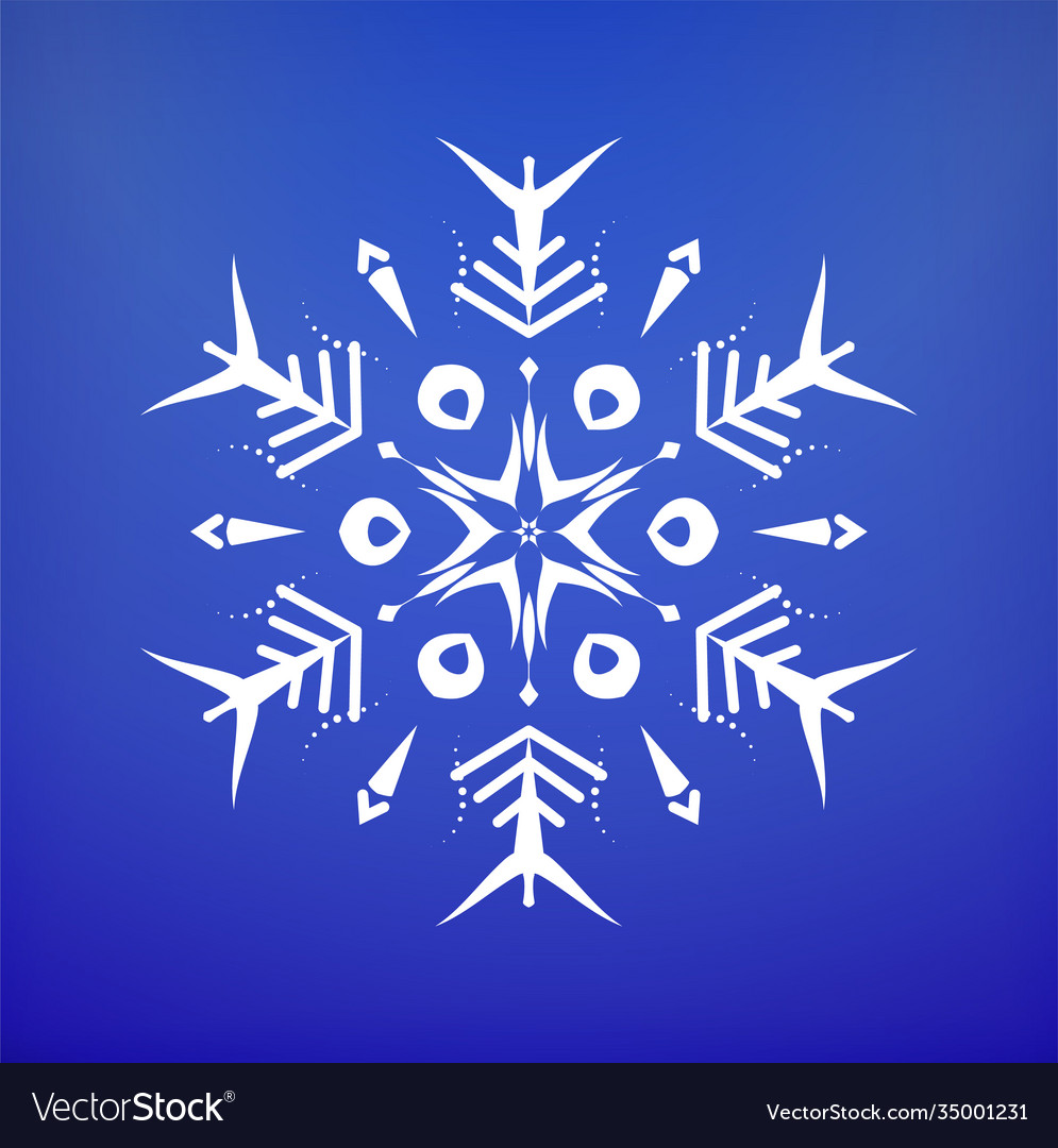 Snowflake icon christmas and winter theme