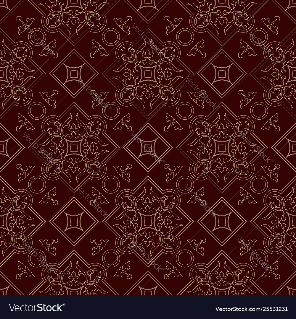 Vintage endless pattern burgundy background