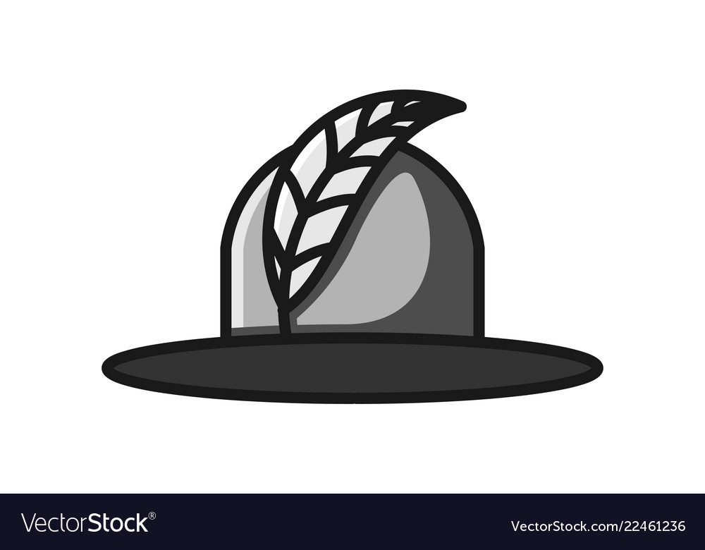 Feather and woman hat beauty logo design