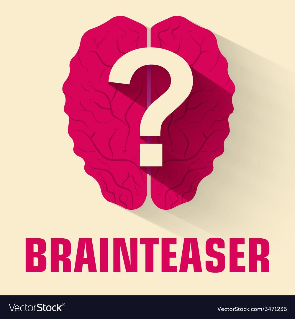 Flat brainteaser icon concept design vector image