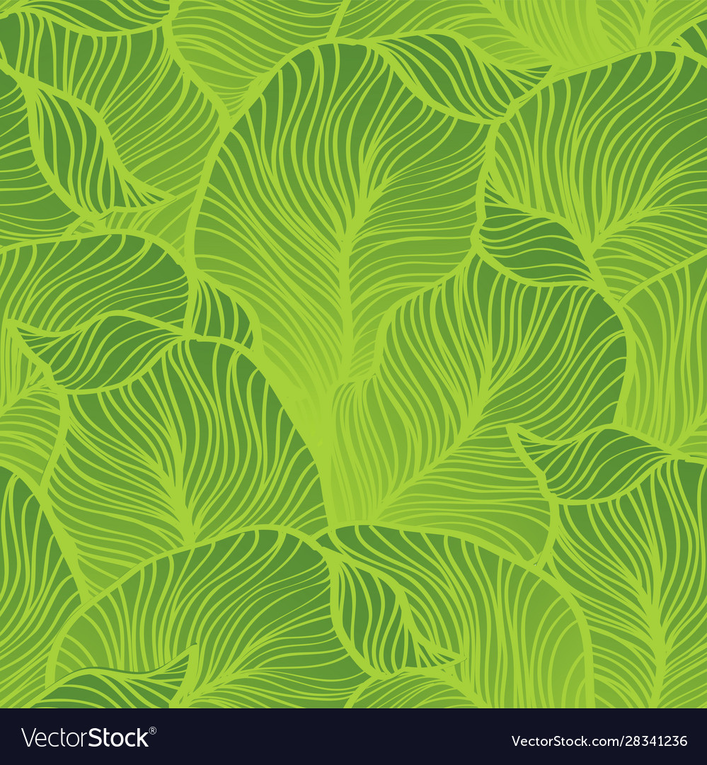 Green leaves pattern seamless nature