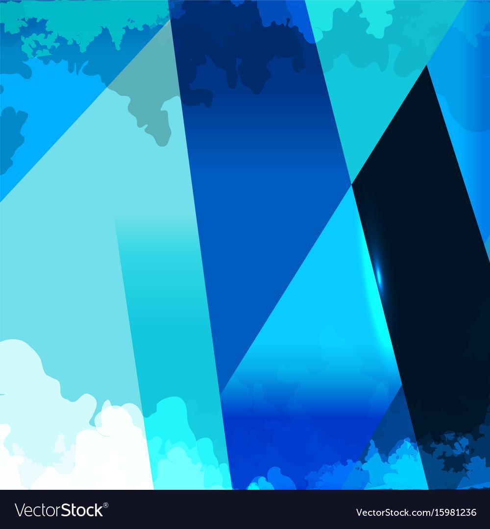 Grunge shape blue background