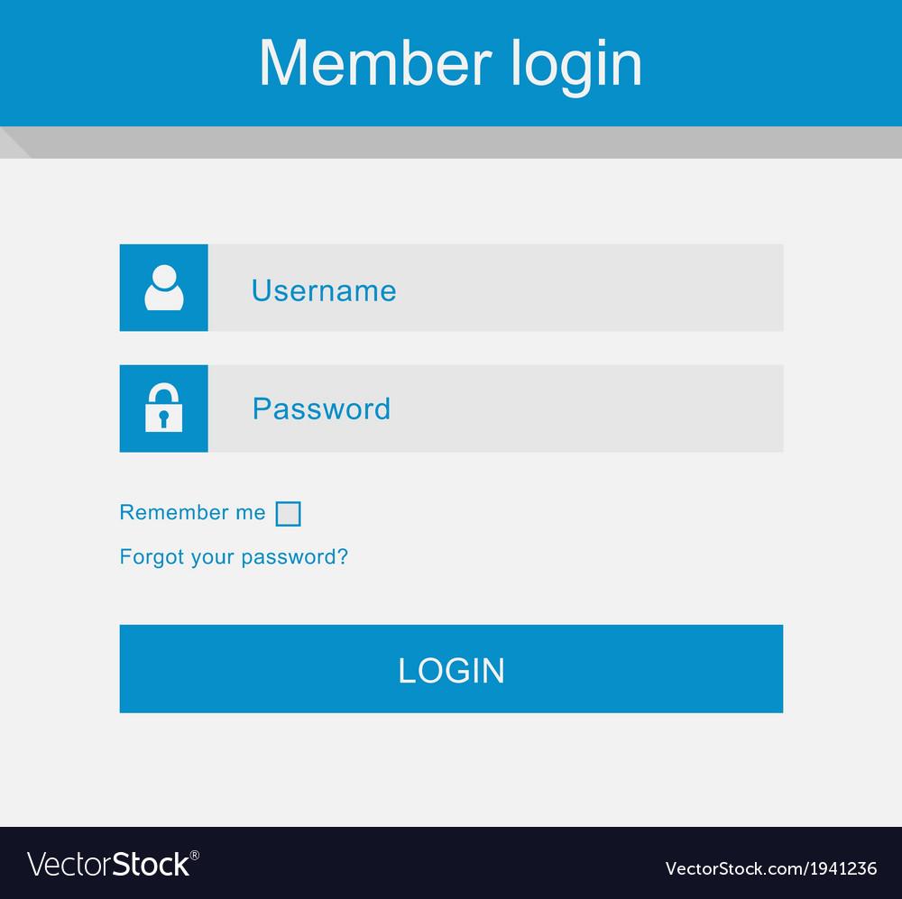 Login interface - username and password fl