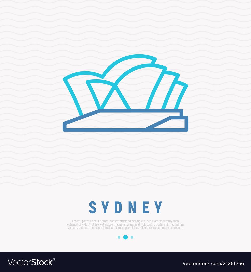 Opera house thin line icon