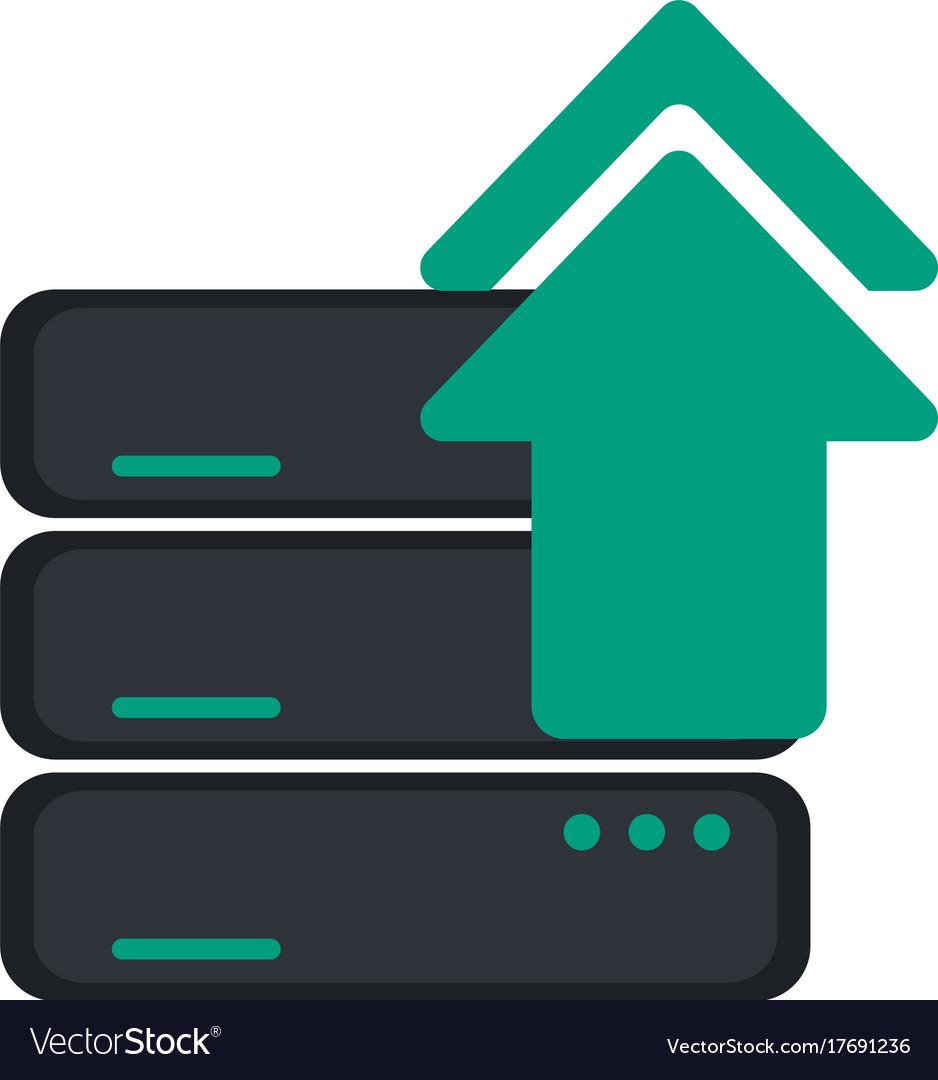 Server upload web hosting icon image