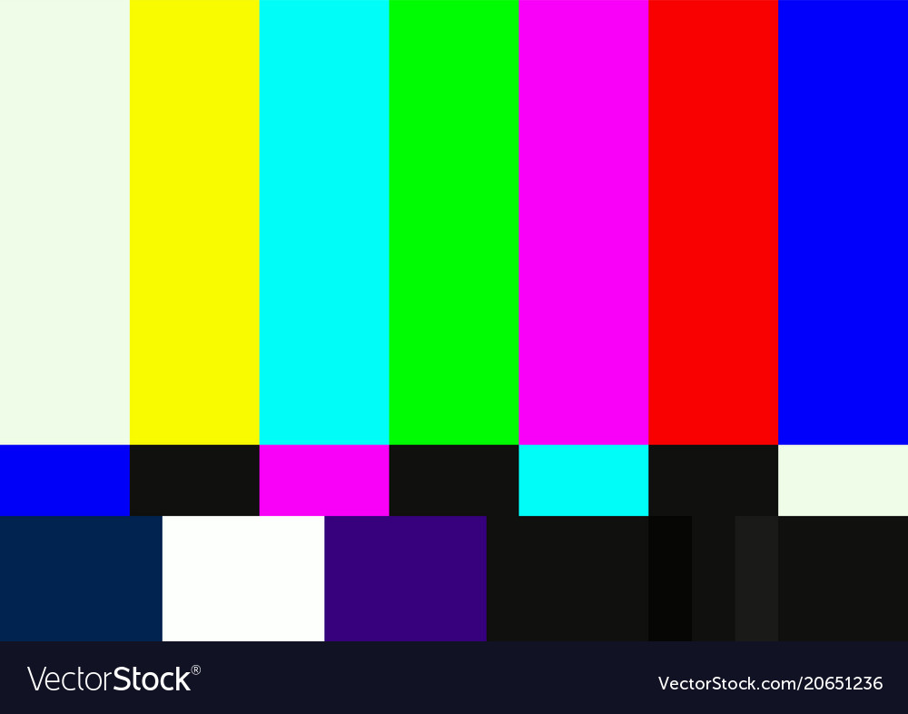 television color test pattern royalty free vector image