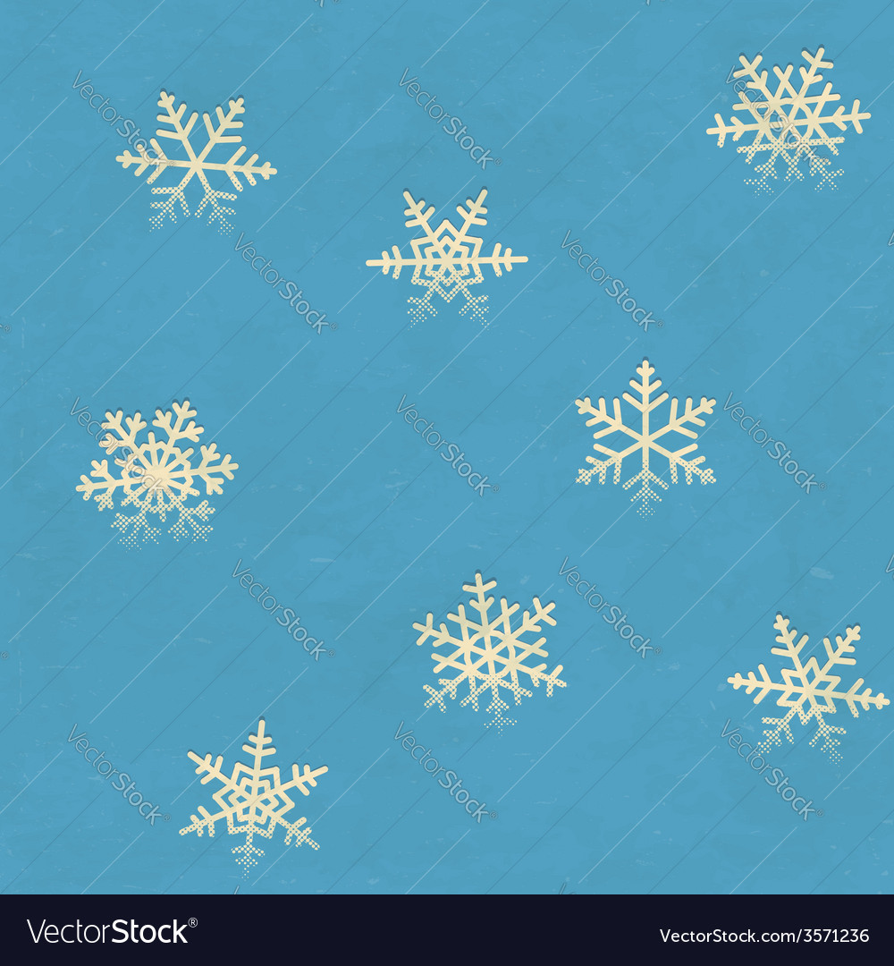 Vintage seamless pattern with snowflakes