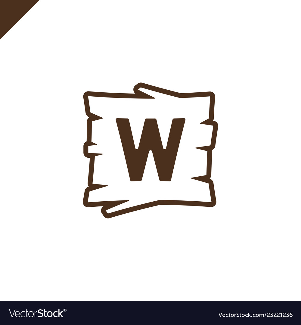 Wooden alphabet or font blocks with letter w