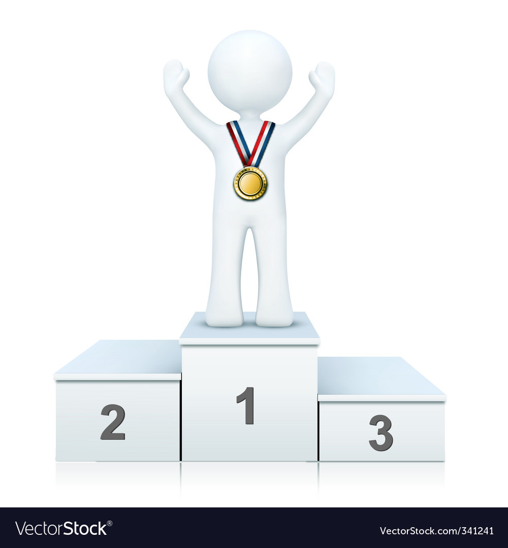 3d person on winning podium