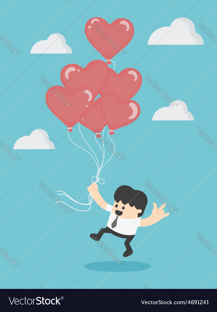 Holding Red heart balloons