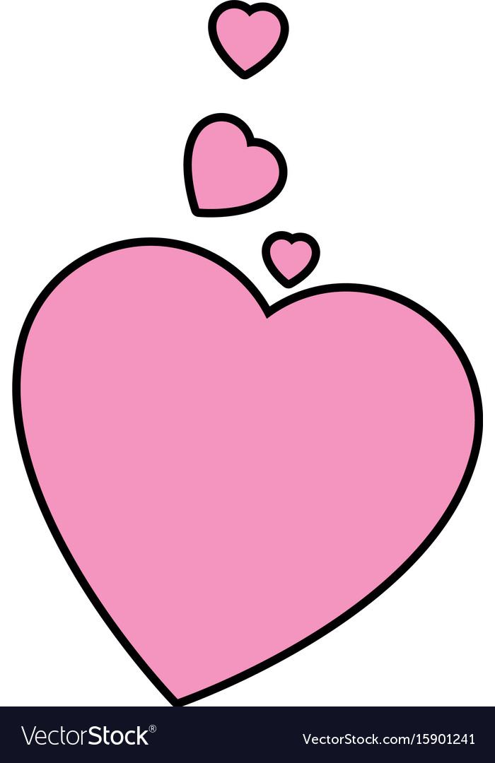 Isolated Cute Big Heart Royalty Free Vector Image