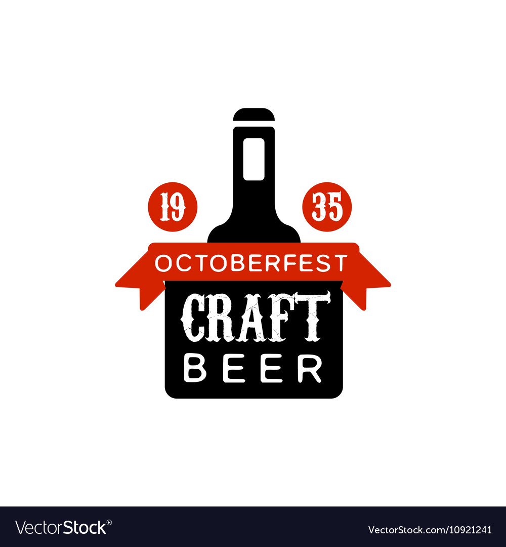 Oktoberfest Craft Beer Logo Design Template vector image