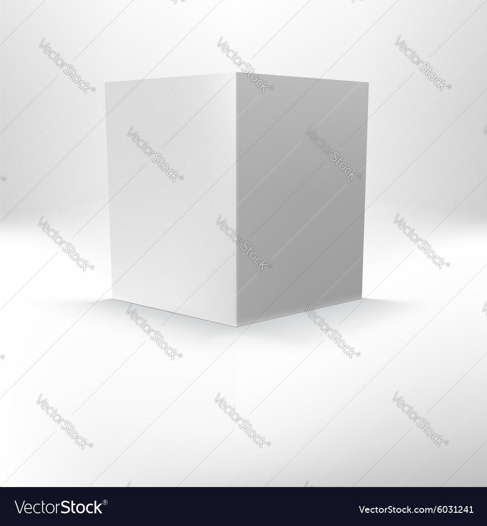 Open folder template standing