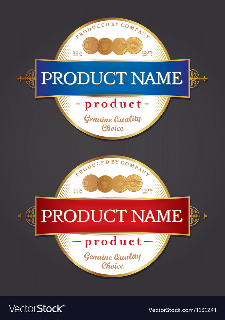product label design template royalty free vector image