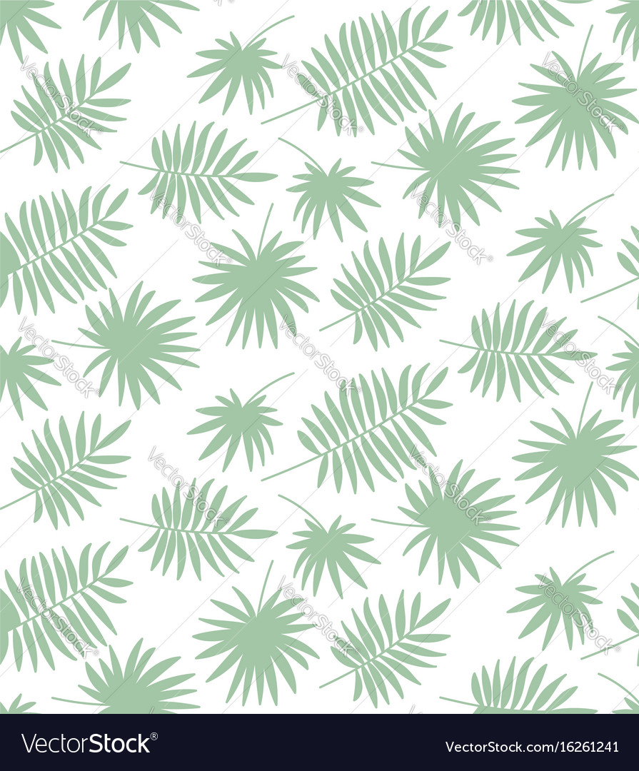Seamless pattern made of palm leaves