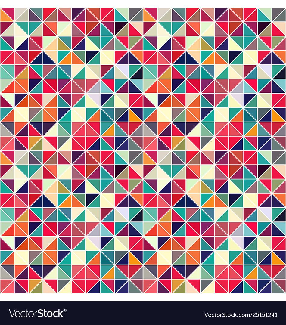 Triangle geometric shapes pattern