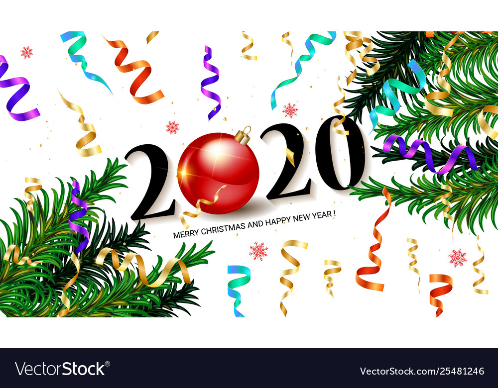 2020 new year background royalty free vector image vectorstock