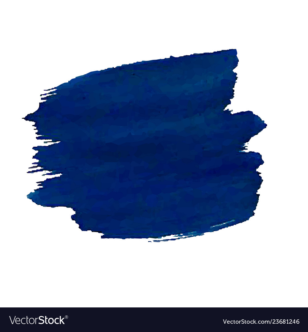 Blue blob isolated