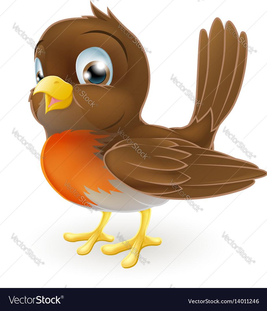 Cute cartoon robin