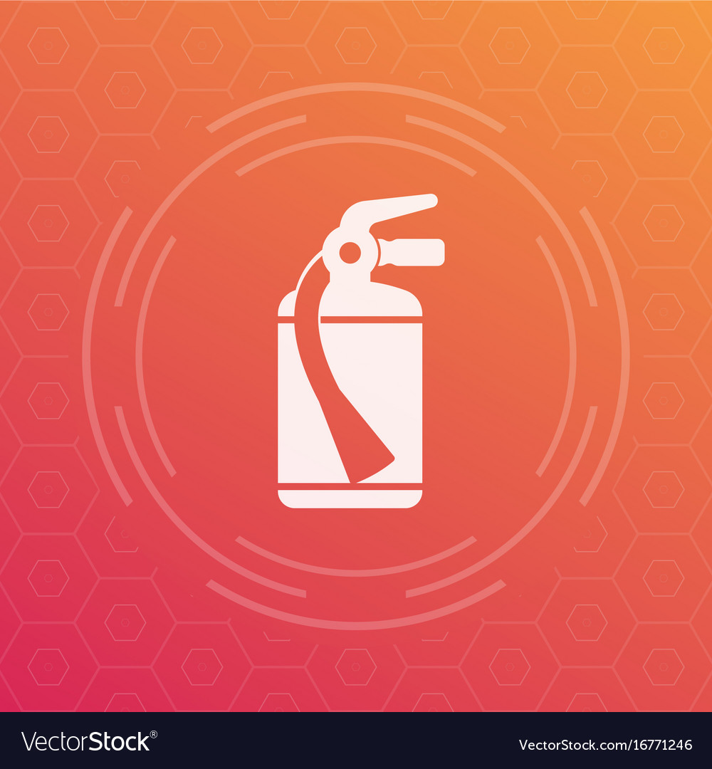 Fire Extinguisher Icon Symbol Royalty Free Vector Image