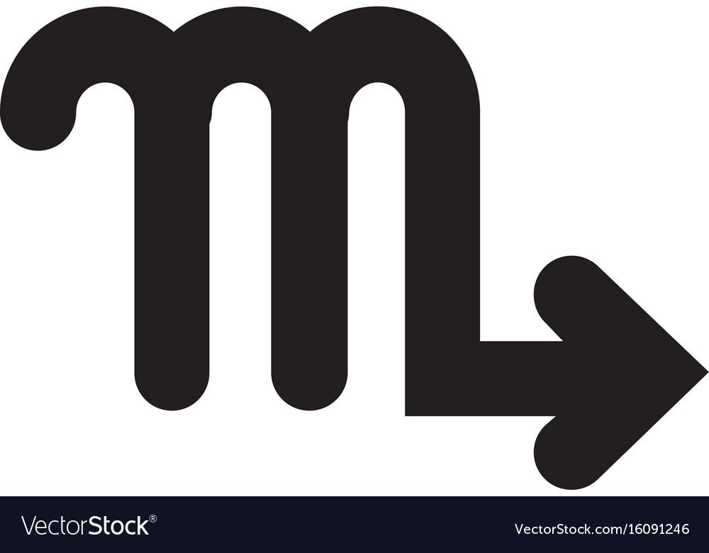 Flat black scorpio sign icon vector image
