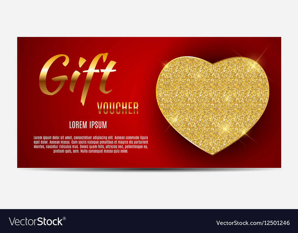 gift voucher template for your business valentine vector image