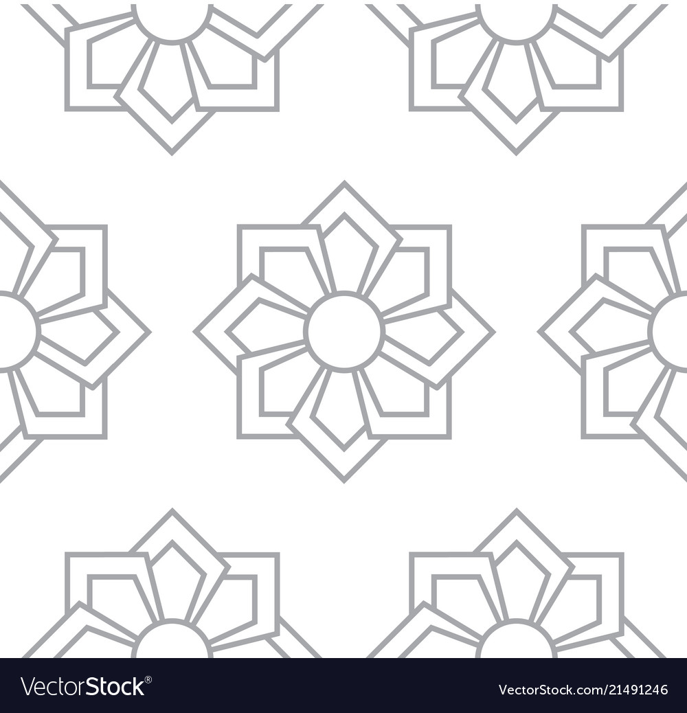 Gray floral pattern seamless for backdrop
