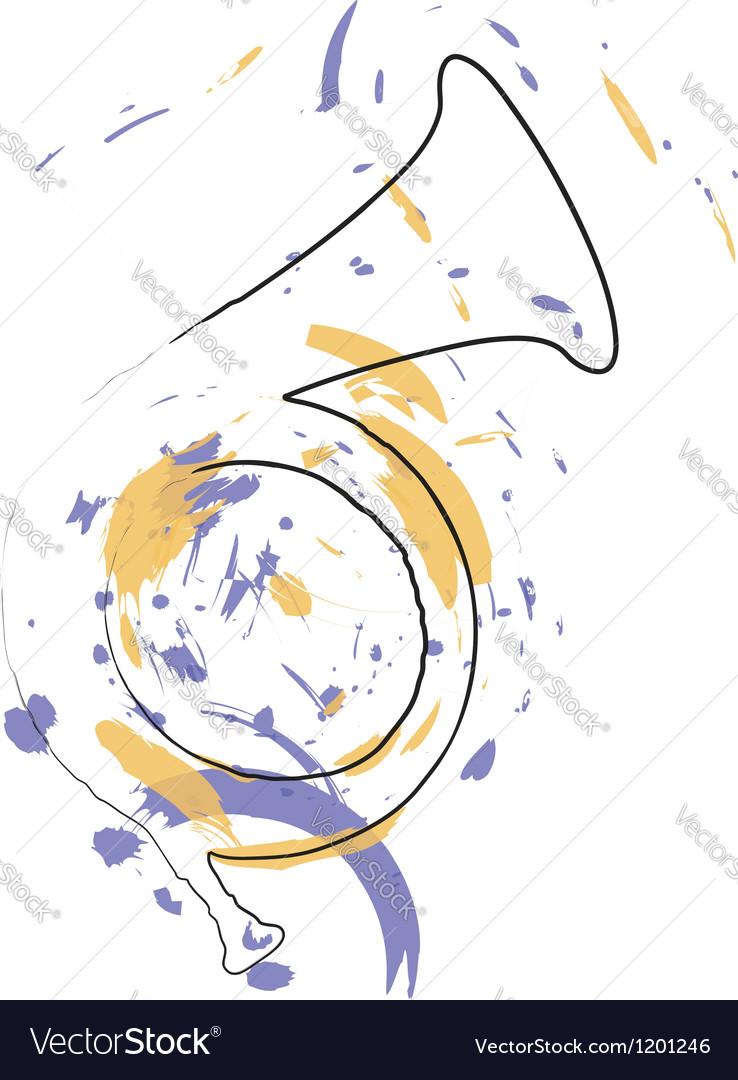 Music instrument vector image