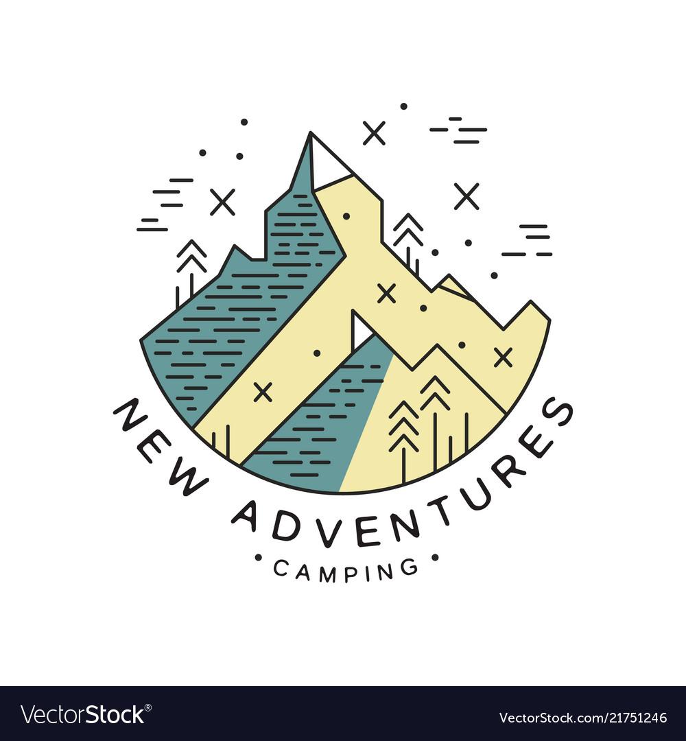 New adventures camping logo design adventure
