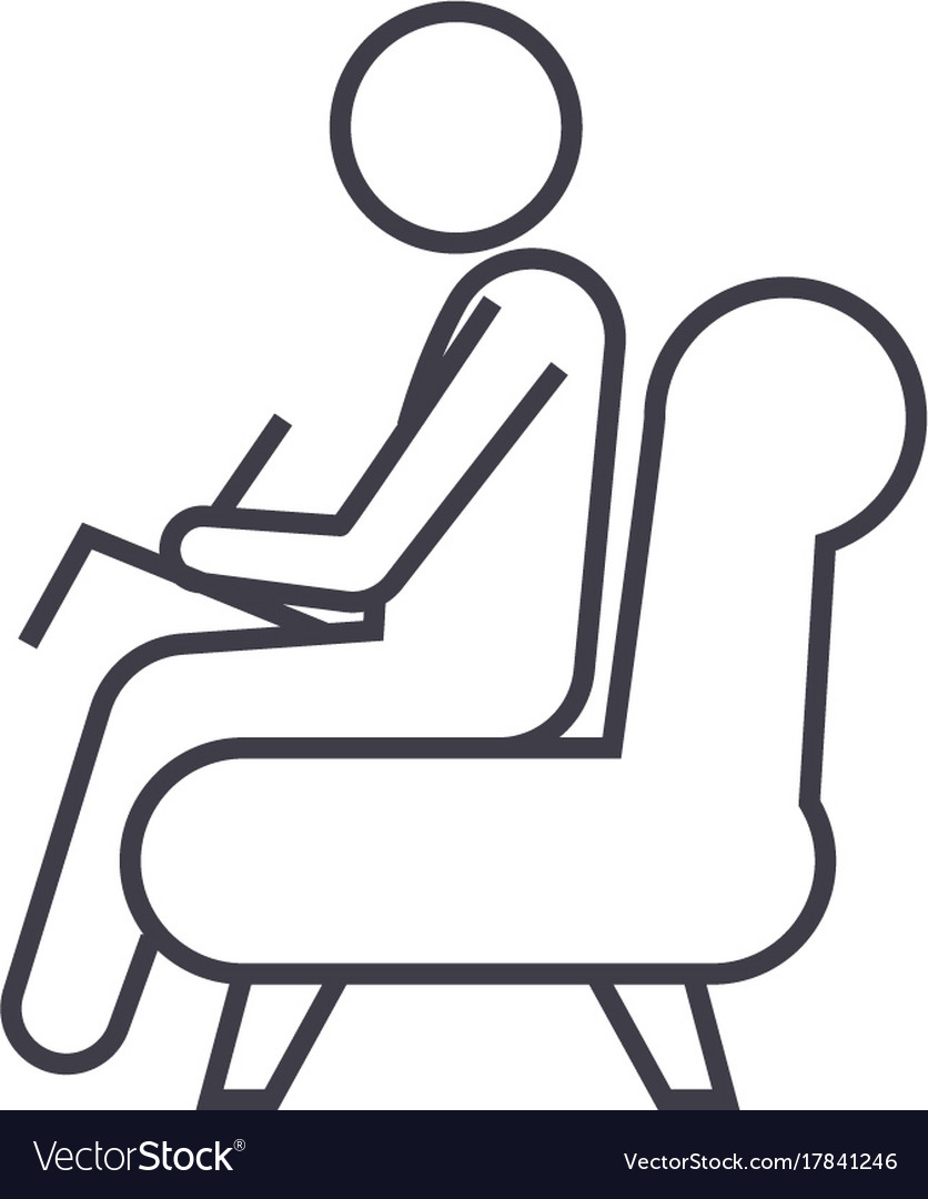 Psychologistconsultant line icon sig vector image