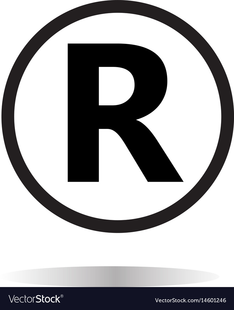 registered trademark icon on white background vector image