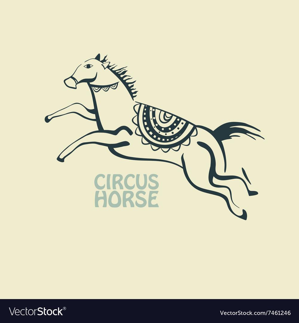 Retro circus horse