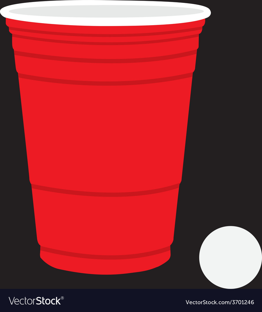 Solo Cup and Ball vector image