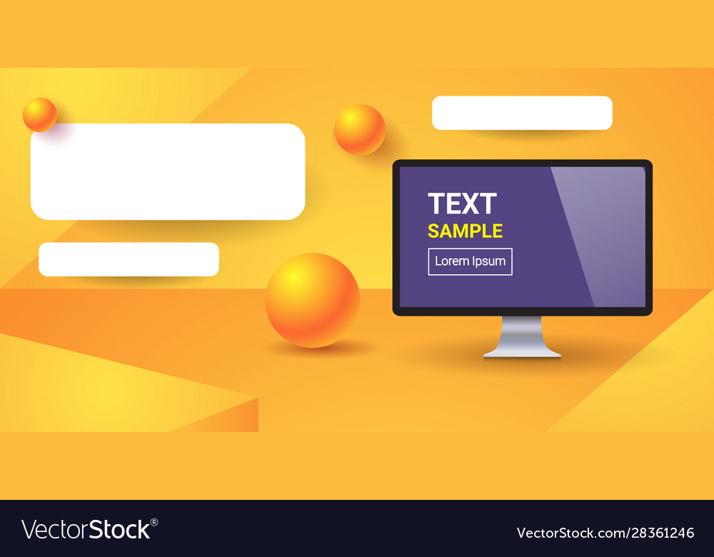 Web template with blank bars for website or app
