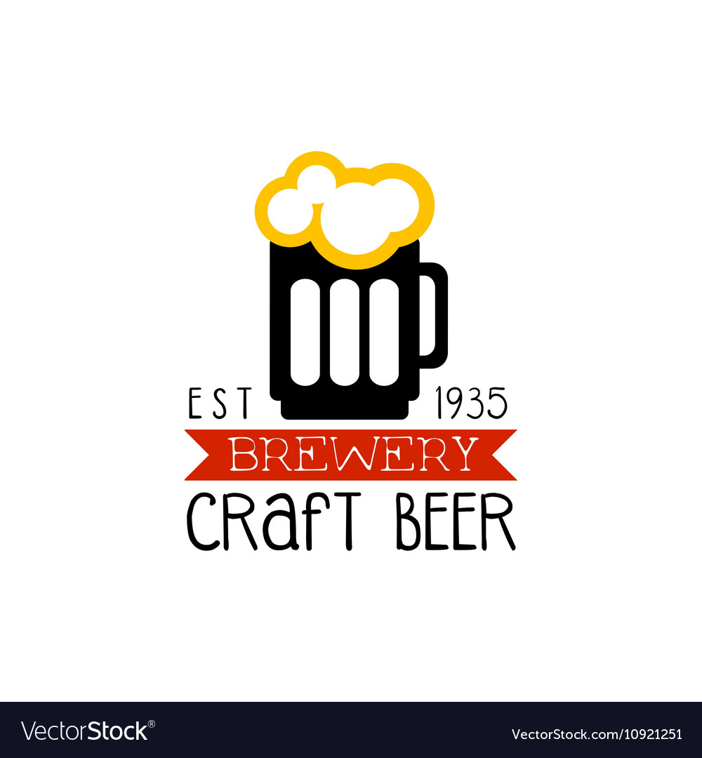 Craft Brewery Logo Design Template Royalty Free Vector Image