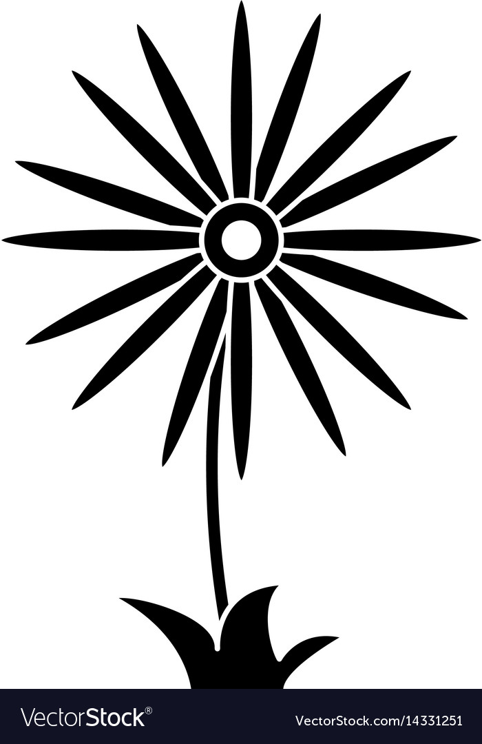 Flower celebration women day pictogram