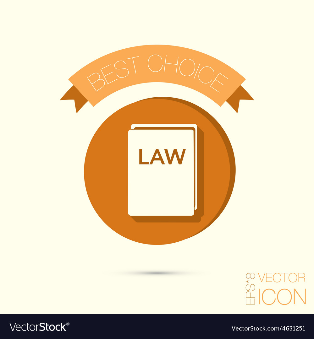 Icon Book Of The Law Set Of Laws Symbol Of Justice