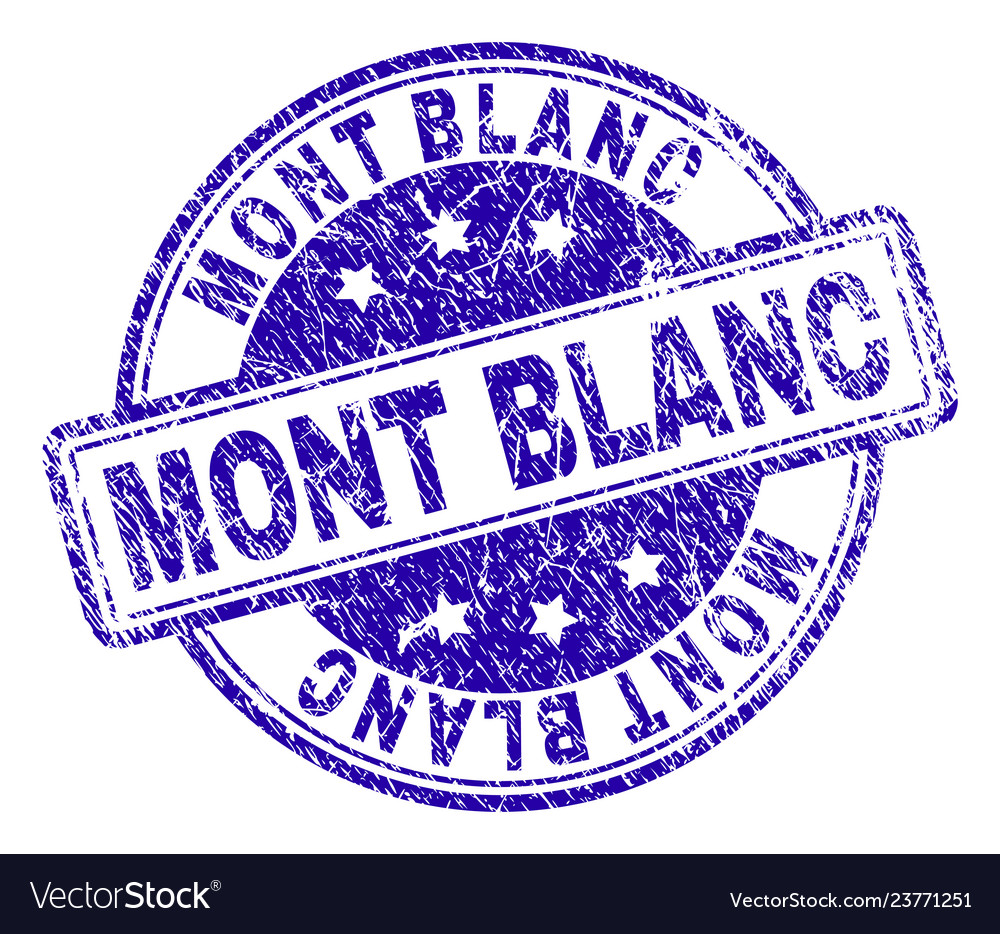 Scratched textured mont blanc stamp seal
