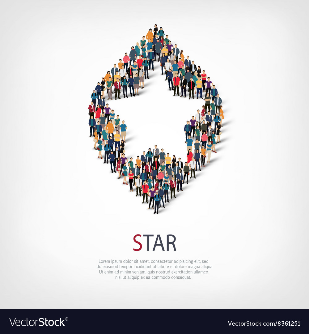 Star people sign 3d